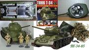 Модель танка Т-34-85 масштаб 1:16
